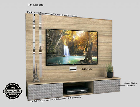 """6ft Wall Mount TV Cabinet (Fit Max 65"""" TV)"""