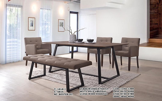 Bester 6 Seater Dining Set