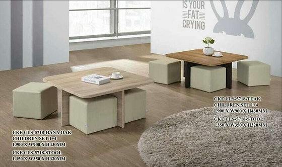 CLS5718 Coffee Table With 4 Stools