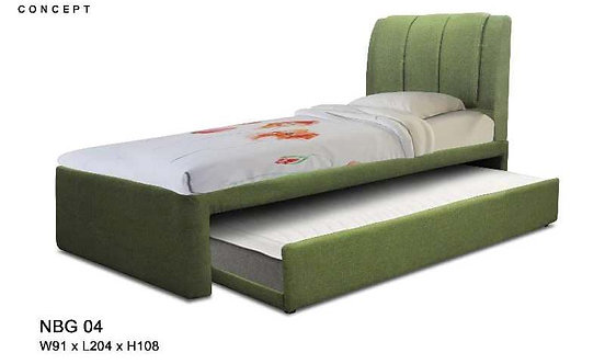 NBG04 Single Bed Frame With Single Pull Out Bed Frame