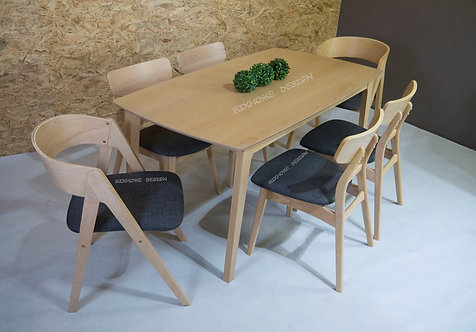 Roden(Mix) 6 Seater Dining Set