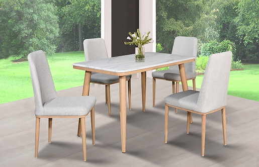 MX(T884/C199) 4 Seater Marble Dining Set