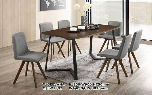 Geevana(1902) 6 Seater Dining Set