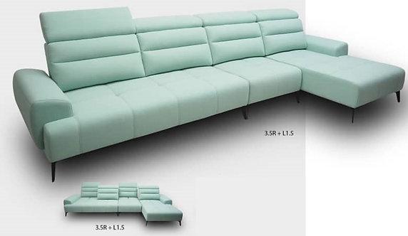 Lucy Push-Back L-Shape Sofa