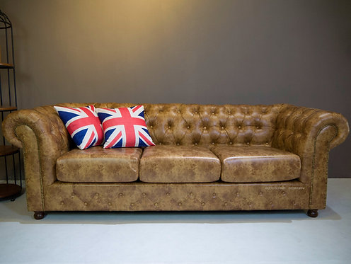 Hades(RF) 3 Seater Chesterfield Sofa