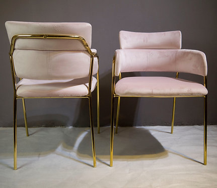 Rose Gold (B.Pink) Unique Chair