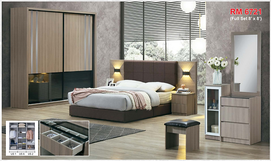 MX(1102) Queen/King Bedroom Set