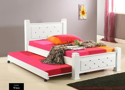 MX6307 Single Bed Frame With Pull Out Bed