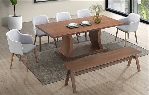 Ingor (C shape) 8 Seater Dining Set