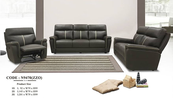 MX-N9470 Cowhide Leather 3 Seater Sofa