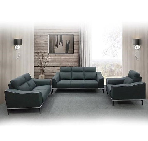 MX-S3730 Cowhide Leather 3 Seater Sofa