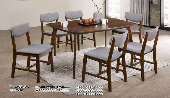 Lagenda 6 Seater Dining Set