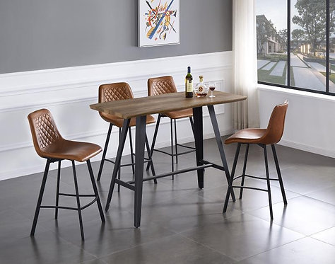 Hogan 4 Stools Bar Set