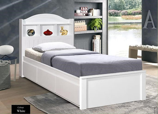 MX6239 Single Bed Frame With Drawers
