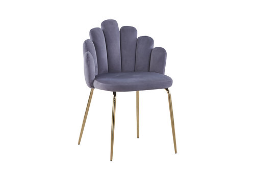 Rosegold Shell Chair