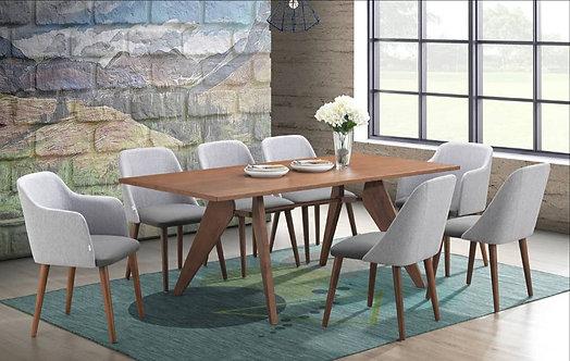 Ingor (Arm Mix Chair) 8 Seater Dining Set