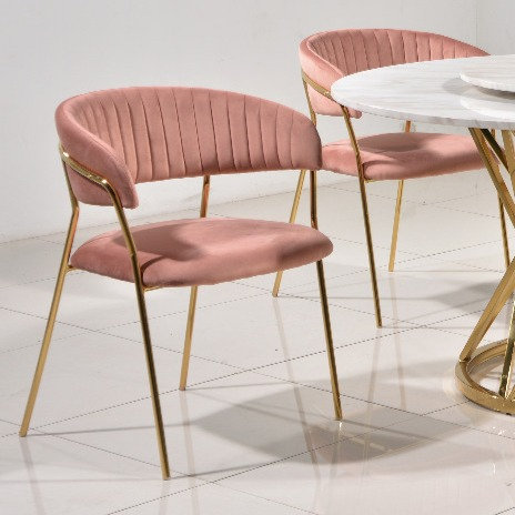 Umberto Rose Gold Chair