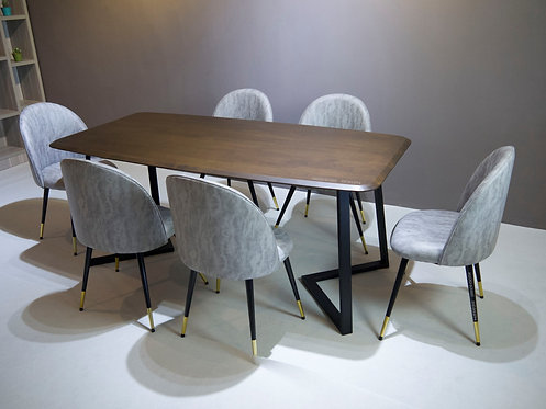 Moneda(TF) 6 Seater Dining Set