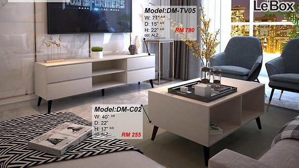 Le'box A(TV05+C02) 2in1 Living Room Set