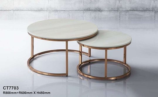 CT7703 Rose Gold Coffee Table