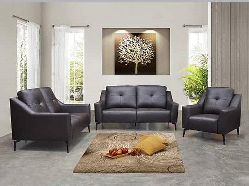 Odis Cowhide Leather 3 Seater Sofa