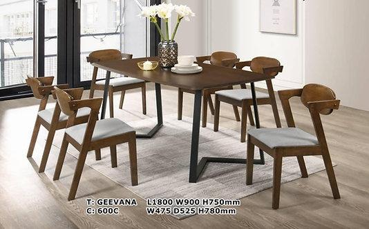 Geevana(600C) 6 Seater Dining Set
