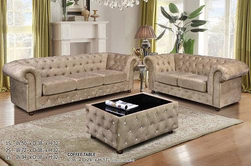 Hades Chesterfield Sofa Set