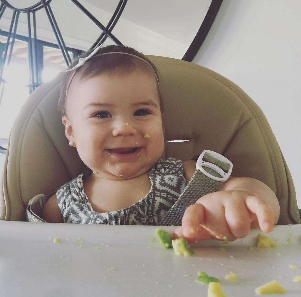 Feeding Our Baby Girl Desbry Avocados