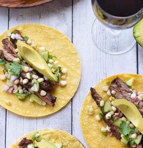 Latin Skirt Steak Taco With Avocado