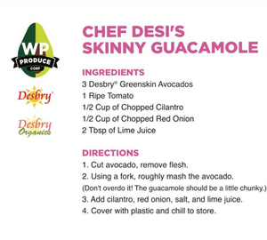 Famous Skinny Guacamole Recipe With Green Skin Avocados