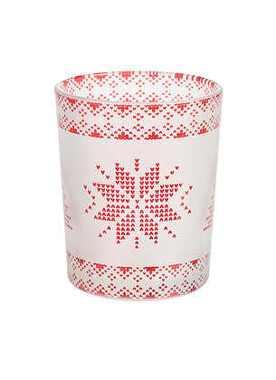 Red Nordic Frosted Glass - Porta Votive
