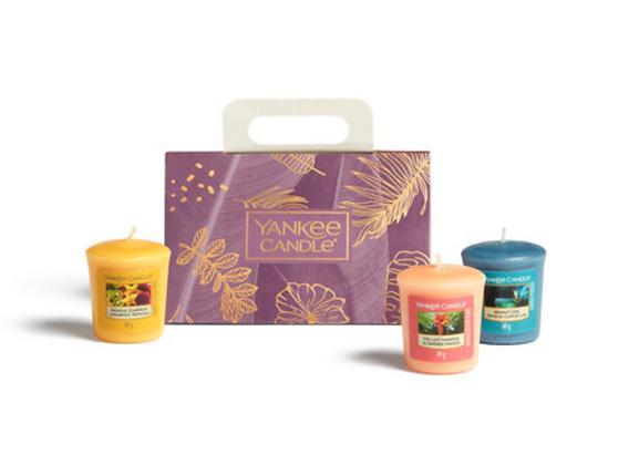 Confezione regalo con 3 candele Votive