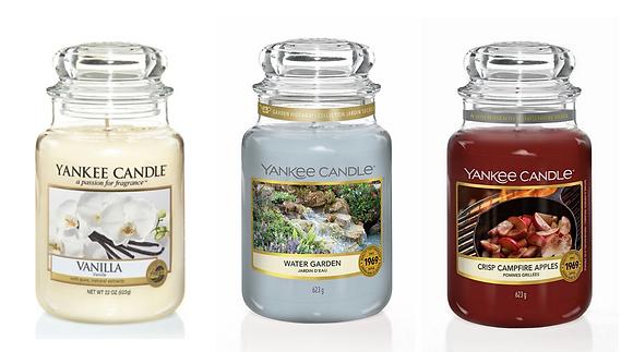 Set 3 giare grandi: Vanilla - Water Garden - Crisp Campfire Apples