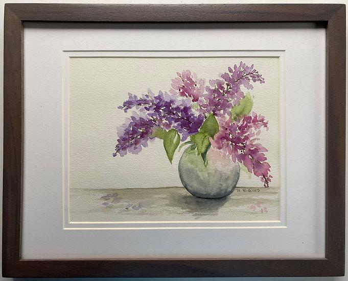 Lilacs in Round Vase
