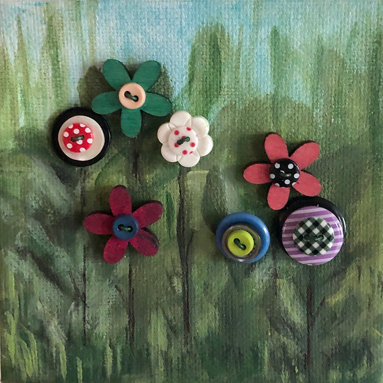 Button Flowers 36
