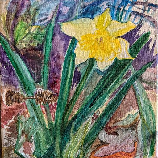 Daffodil & Pine Cone Barbell