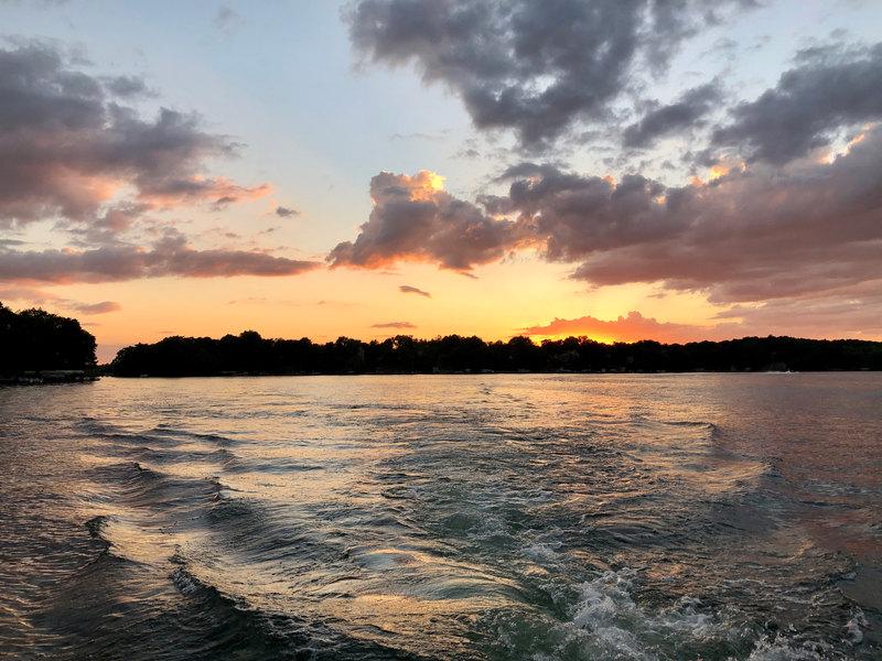 Goodnight Sunset on Lake Keesus