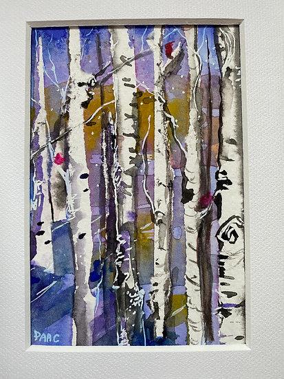 Birch Tree and Bird