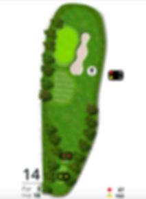 Åskov Golfklub - Hul 14