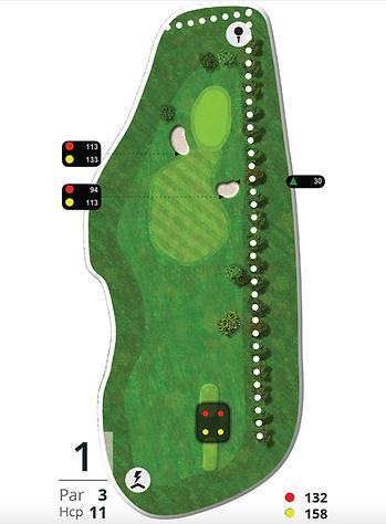 Åskov Golfklub - Hul 1