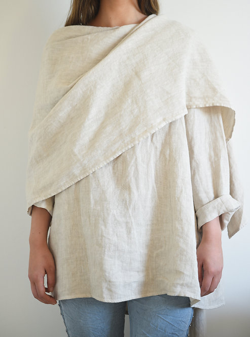 Amara Drape Top - Natural