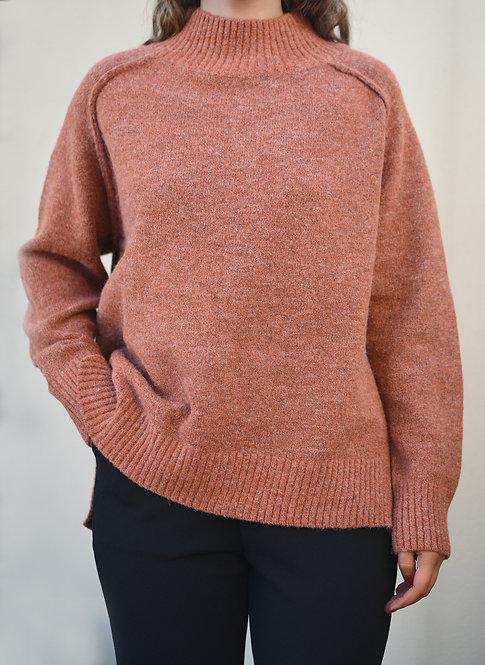 Harlow Knit - Rust & Lilac