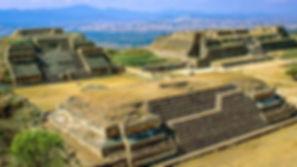 Zapotec site Monte Alban located near Oaxaca city