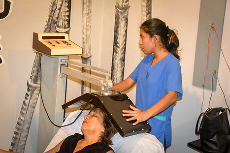 Treating the brain with Pulsed Electro Magnetic Field Therapy, PEMFT,  stimulating the parasympathetic nervous system, to reduce stress in a gout patient