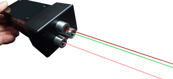 Photo demonstrating a Super pulsed cold laser, with infrared and near-infrared beams, treating gout.