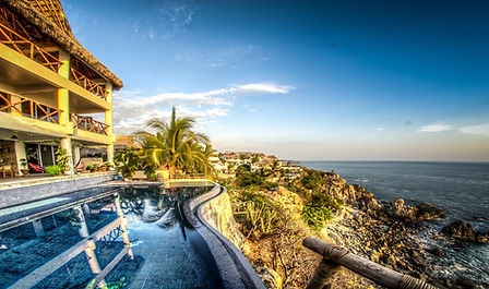 A view of the Mexican South Pacific Ocean, seen from The Gout Clinic in Puerto Escondido, Mexico.