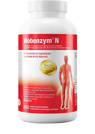 Proteolytic Enzymes Wobenzym, lowering gout inflammation
