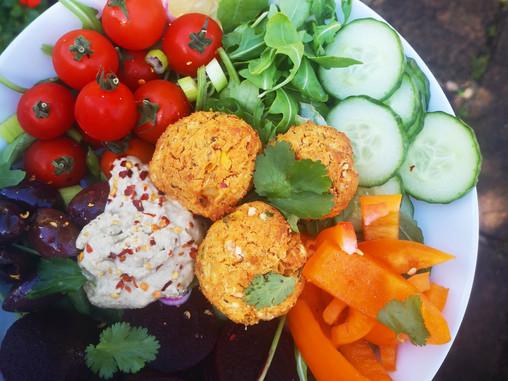 Sundried Tomato and Sweetcorn Falafel