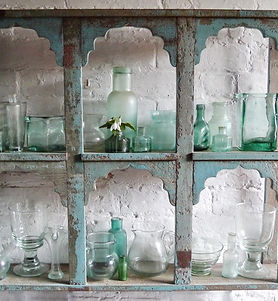 6 Arch Shelves with bottle collectio