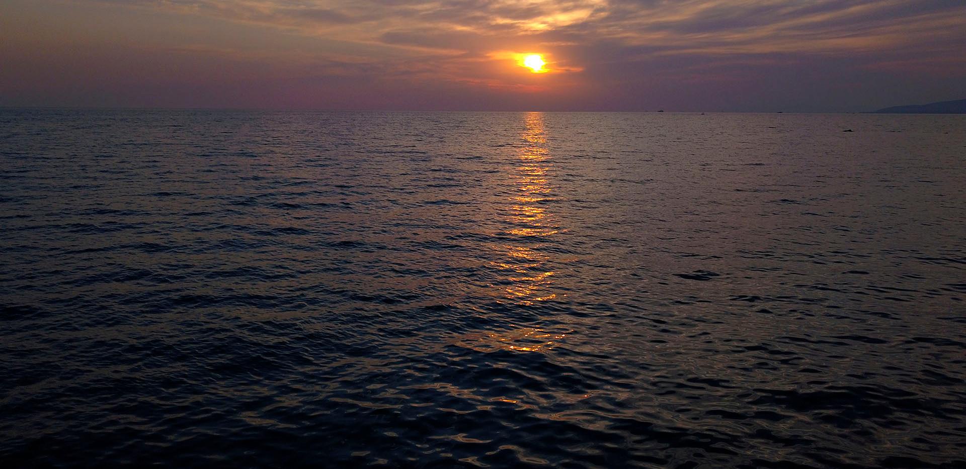 sunset-drone